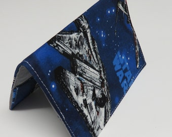 READY TO SHIP - Passport Cover Case Holiday Cruise Travel Holder - Travel - Blue Star Wars Fabric