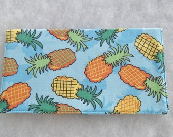 Checkbook Cover - Pineapples