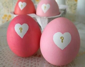 Gender reveal eggs