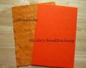 Nicole's BeadBacking Ultrasuede Orange combo beading art supplies
