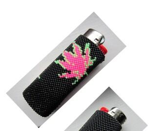 Peyote Pattern Pot Leaf Lighter Cover PDF Instant Download