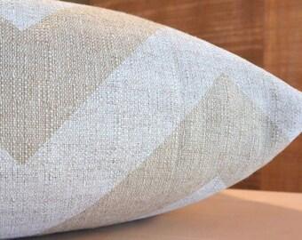 DESIGNER Pet Bed Duvet Cover - Stuff with Pillows - YOU Choose Fabric - Zippy (large chevron) Cloud Denton shown - Add Personalization