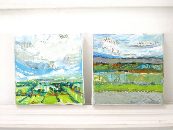 A Possibility original mixed media acrylic landscape painting