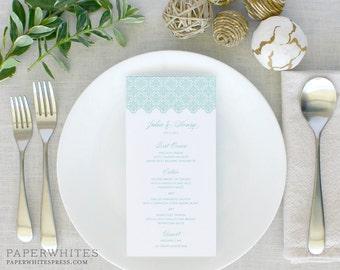 Trellis Menu Card, Trellis Wedding Menus