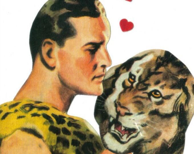 Jungle Love Lion Art, Weird Romance Artwork