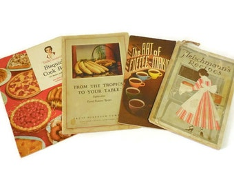 Lot of Four Vintage Cook Booklets