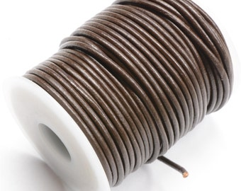 Brown Rolled Leather 1.8mm diameter