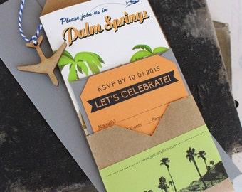 Travel Brochure Wedding Invitation (Palm Springs, CA) - Design Fee