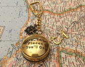 Compass Keychain Oh the Places You'll Go Boyfriend Gift Husband Gift