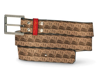 Max Headroom Leather Belt, 80s Leather Belt, Throwback Belt, Nostalgia Leather Belt, Nostalgic