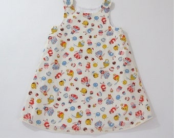 Happy Teapots & Dancing Donuts Girls Dress, Newborn Dress, Baby Dress, Toddler Dress, Girls Dresses, Cartoon Dress, Sizes Newborn to 6T