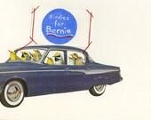 Birdies for Bernie.  Original collage by Vivienne Strauss.