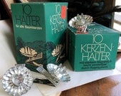 19 German Vintage candle holders, Christmas tree candle holders, candlestick holders, Holiday tree candle holders