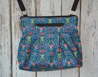 Tablet Pocket Crossbody Purse - iPad Pocket Cross Body Bag - Crossbody Purse - Shoulder Purse -  MEDIUM or Large HOBO BAG Home Fabric