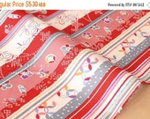 Japanese fabric wagara small stripes cotton crepe - B - 50cm