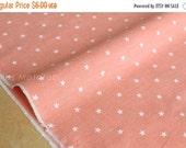 Japanese Fabric - chambray stars  - peach - 50cm