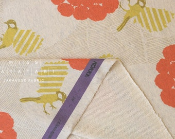 Japanese Fabric Echino Kokka French Terry Knit - joy - A - 50cm