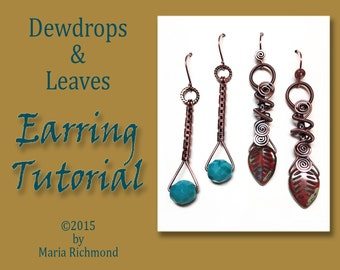 Dewdrops and Leaves Wirewrapped Earring Tutorial
