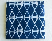 Kayak Hand Dyed and Patterned Cotton Fabric in Indigo and White