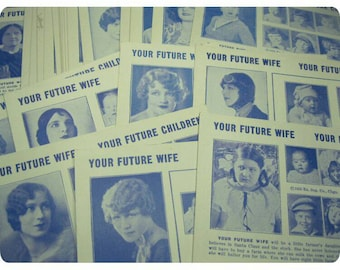 3 x Your Future Wife + Children Vintage Arcade Cards NEW OLD STOCK