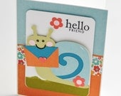Snail Mail Card with Matching Orange Envelope