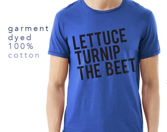 SALE lettuce turnip the beet ® trademark brand OFFICIAL SITE - royal blue cotton tshirt - garment dyed