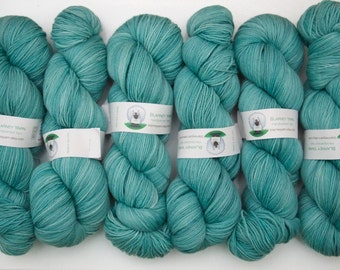 Superwash Merino Wool Sock Yarn in Aqua by Blarney Yarn