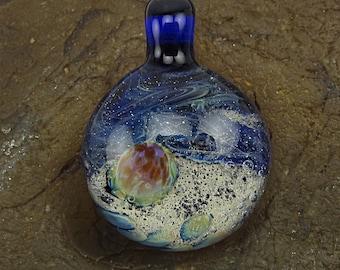 Handmade Lampwork Glass Focal Space Pendant by Jason Powers SRA