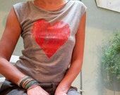 Grey and red heart