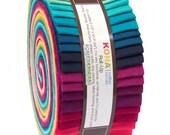 Rhoda Ruth Solid Coordinate Roll Up Kona Cotton Robert Kaufman Fabrics 2.5inch Strips 40pc