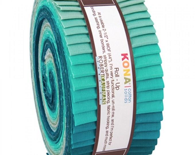 Kona Cotton Midnight Oasis Roll Up 2.5inch Strips 40pcs