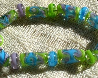 Lampwork Glass Handmade Beads Catalinaglass  Swirled Ribbons
