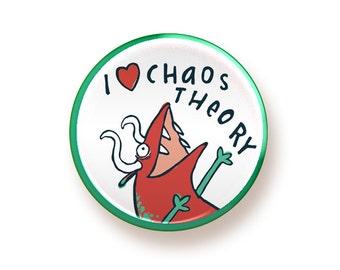 I heart Chaos Theory - round magnet