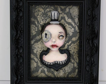 Original Lowbrow Pop Surrealism Steampunk Acrylic Painting