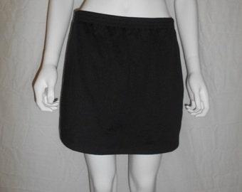 90s Health Goth Black & White Stripe Athletic Skirt / tennis skirt / 90s clothing