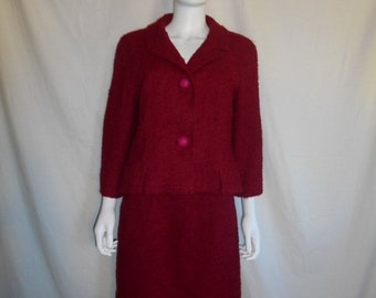 SALE Vintage  beautiful jacket  & matching skirt, Vintage 50s 60s jacket skirt set, Gray Shop Stefan