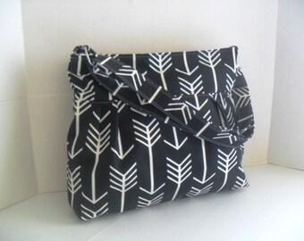 Arrow Diaper Bag - Diaper Bag - Black Arrow - Messenger Bag - Crossbody