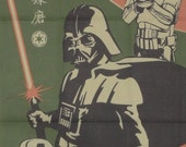 Star Wars Darth Vader and Stormtroopers Cotton Fabric Japanese Tenugui Cloth w/Free Insured Shipping
