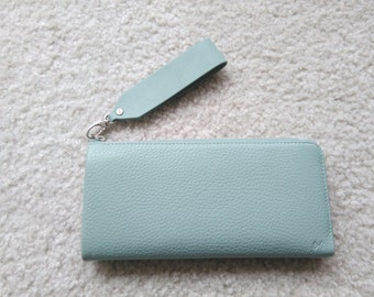 Mint leather wallet