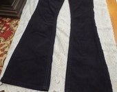 SALE Hippie Boho Black Corduroy Flared Bell Bottom Pants Jeans 5