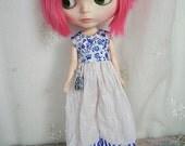 Blythe Overalls, Blue n White