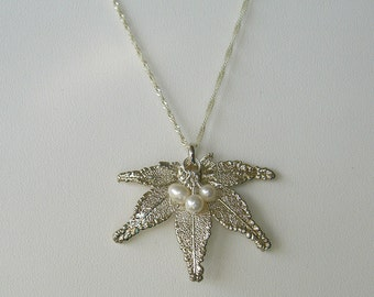 Real Japanese Maple Leaf Necklace
