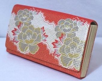 Sparkling Floral - Japanese Kimono Clutch Purse Handbag