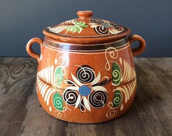 Made in Mexico Bean Pot - Folk Pottery