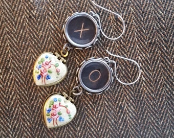 MEMORIES - Xs and Os - Vintage Typewriter Key Earrings
