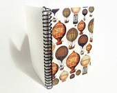 Hot Air Balloons - Travel Notebook Spiral Bound - 5x7in