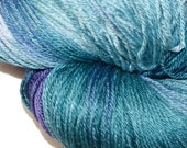CAYMAN ISLANDS in Hand Dyed Poet Seat Fingering Weight Superwash Merino and Silk Yarn