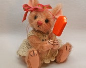 Marcy Mouse Artist teddybear friend mohair jointed orange