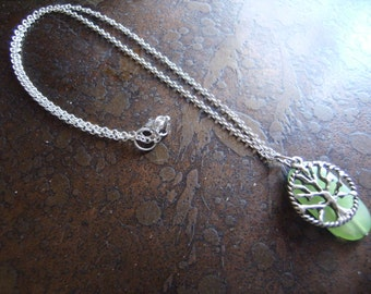 Mother Earth Acrylic Silver Plated Chain necklace