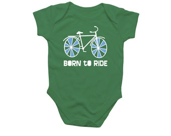 Born To Ride Bicycle Baby Bodysuit
